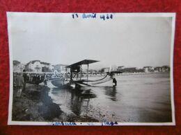 MARSEILLE LA PLAGE HYDRAVION 12 AVRIL 1920 PHOTO 8.5 X 6 Cm - Places