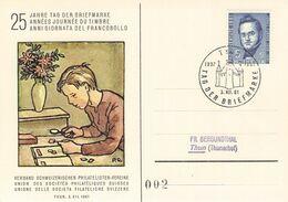 SCHWEIZ 7 KARTEN TAG DER BRIEFMARKE 1961 THUN /AS151 - Schweiz