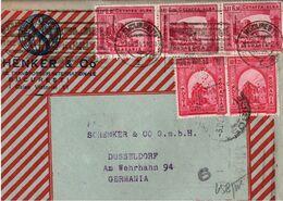 ! 1941 Brief Aus Bukarest, Rumänien Romania, Schenker Firmenlochung, Perfins, N. Düsseldorf, OKW Zensur, Censor, Censure - Covers & Documents