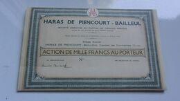 HARAS DE PIENCOURT-BAILLEUL (1934) EURE - Unclassified