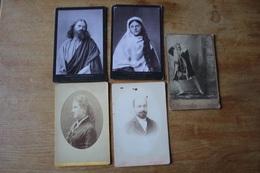 5 Cabinets  Second Empire Et Autres Dont NADAR  Et Théâtre - Antiche (ante 1900)