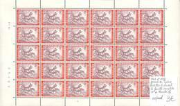 NN - [99999]TB//**/Mnh-NN - Belgique 1967 - N° 1413, Postillon à Cheval, La Feuille Complète, N° De Planche 1, Journée D - Stamp's Day