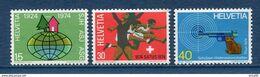 Suisse - YT N° 947 à 949 - Neuf Sans Charnière Légère Adhérence - 1974 - Ongebruikt