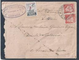 Registered Letter Azambuja Tuberculosis Vignette 1932. Einschreiben Aus Azambuja Tuberkulose-Vignette. Arruda Dos Vinhos - 1910-... République