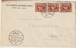 ESC The Eastern Exchange Hôtel 15M. Port Saïd F -> France 1929 - Storia Postale