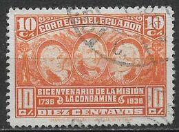 Ecuador 1936. Scott #349 (U) Louis Godin, Charles M. De La Condamine & Pierre Bouguer - Ecuador