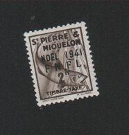 Faux Saint-Pierre Et Miquelon Taxe N° 50 2 F Gomme Charnière - Strafport