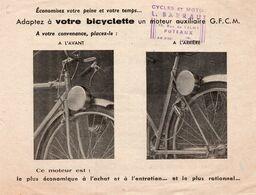 CYCLES Et MOTOS - L.BARRAUT à PUTEAUX / Adaptez à Votre Bicyclette Un Moteur Auxilliaire - Werbung