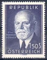Austria Autriche Österreich 1953/56: THEODOR KÖRNER (1873-1957) Michel-No.982+1031 ** Postfrisch MNH (Michel 10.00 Euro) - 1945-60 Nuevos & Fijasellos