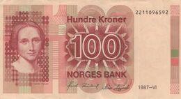 (B0082) NORWAY, 1987. 100 Kroner. P-43c. VF - Noorwegen