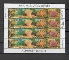 Alderney 1993  WWF Sea Life Sheetlet MNH - Nuevos