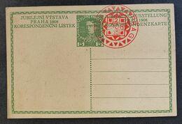 Kaiserreich 1908, Jubiläumsausstellung Postkarte, Roter Sonderstempel PRAG - Covers & Documents