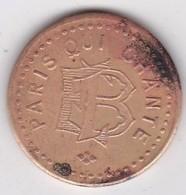 Jeton Paris Qui Chante (monogramme) EB, Bon Pour Une Audition, Frappe Décalée à 10 H - Monetary / Of Necessity