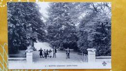 CPA. RUFFEC En CHARENTE - Jardin Public - Carte Animée - Ruffec