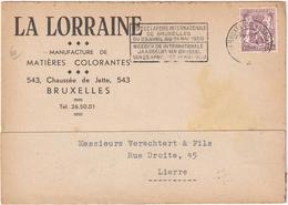 La Lorraine - Manufacture De Matières Colorants - Bruxelles - Bruxelles-ville