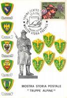 "01920 ""TORINO-MOSTRA STORIA POSTALE-TRUPPE ALPINE - 12-16/5/1988-TRUPPE ALPINE-P.G.E."" CART NON SPED - Manifestazioni"