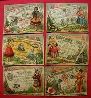 Lot 20 Chromos Billets De Banque Du Monde Billettophilie Editeur Bognard Paris (série De 24) Dos Scanné10.8x8 Cms +ou- - Other