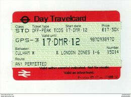 Day Travelcard Londre - Métro