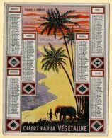 Calendrier Publicitaire 1909, Offert Par Végétaline. Illustration : Vision D'Orient. - Petit Format : 1901-20