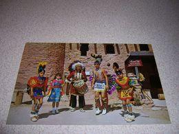 1950s CHIEF LITTLE DEER & TEWA INDIAN DANCERS, MANITOU SPRINGS CO. VTG POSTCARD - Altri