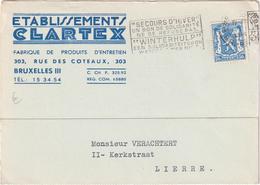 Etablissements Clartex Bruxelles 1944 - Bruxelles-ville