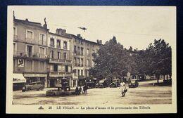 CPA - LE VIGAN (30) -La Place D'Assas Et La Promenade Des Tilleuls - Le Vigan