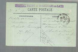 """Oblit. - - Griffre """"Hôpital Mixte De St-Germain-en-Laye"""" - Circulé Le 30/12/1917 - Poststempel (Briefe)"""