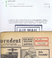 Ireland Airmail Horseracing 1934 Dublin-Aintree Special AIR MAIL EDITION FOR AINTREE Irish Independent Flown Liverpool - Airmail