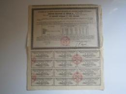RECEPISSE PROVISOIRE AU PORTEUR DE L'EMPRUNT OTTOMAN 4% 1902 DOUANES - Autres