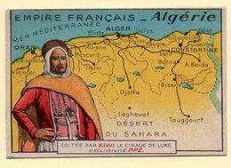 Chromo Publicitaire Cirage Kiwi. Série Empire Français : Algérie. - Otros