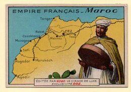 Chromo Publicitaire Cirage Kiwi. Série Empire Français : Maroc.. - Otros