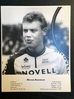 Michael Blaudzun - Novell 1995 - Carte / Card - 17 X 21 Cm - Cyclists - Cyclisme - Ciclismo -wielrennen - Cycling