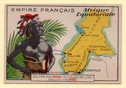Chromo Publicitaire Cirage Kiwi. Série Empire Français : Afrique Equatoriale. - Otros