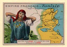 Chromo Publicitaire Cirage Kiwi. Série Empire Français : Tunisie. - Sonstige