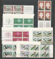FRANCE ANNEE 1960 N° 1256,1264,1266,1267,1273 à1276 BLOCS DE 4 EX NEUFS** NMH - Nuovi