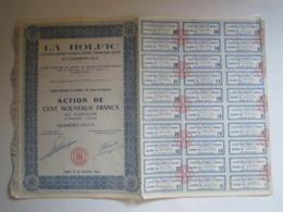 """ACTION DE 100 FRANCS NOUVEAUX FRANCS AU PORTEUR """"LA HOLFIC LE HOLDING FINANCIERE IMMOBILIERE ET COMMERCIALE"""" - Autres"""