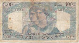 BILLETE DE FRANCIA DE 1000 FRANCS DEL 25-4-1946  (BANKNOTE) MINERVE ET HERCULE - 1871-1952 Antichi Franchi Circolanti Nel XX Secolo
