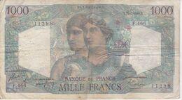 BILLETE DE FRANCIA DE 1000 FRANCS DEL 15-7-1948  (BANKNOTE) MINERVE ET HERCULE - 1871-1952 Antichi Franchi Circolanti Nel XX Secolo