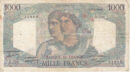 BILLETE DE FRANCIA DE 1000 FRANCS DEL 17-2-1949 (BANKNOTE) MINERVE ET HERCULE - 1871-1952 Antichi Franchi Circolanti Nel XX Secolo