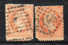 W1191 - FRANCIA 1862 , 40 Cent Arancio : Due Esemplari Usati. Difetti  (M2200) - 1862 Napoléon III