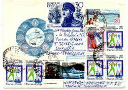Lettre De Saint Petersbourg 1992 Pour Quevilly Le Havre Ski Bobsleigh Nahimov - 1992-.... Federation