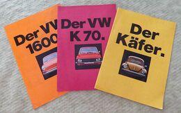 Pub VW Volksvagen ~1970 Coccinelle/K70/1600 - Pubblicitari