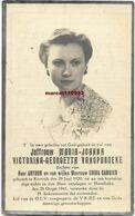 Vanopbroeke Maria Joanna ( Kortrijk 1920 /Harelbeke 1941 - Esquela