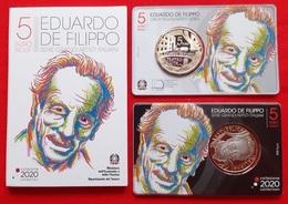 """Italy 5 Euro 2020 """"Eduardo De Filippo"""" BiMetallic PROOF - Italia"""