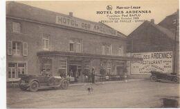 HAN-SUR-LESSE - 1910-1920 - Hotel Des Ardennes - Proprietaire Paul Baplu - Oldtimer Oude Auto - Rochefort