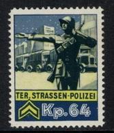 Suisse /Schweiz/Switzerland // Vignette Militaire // Troupe Territoriale, Ter.Strassen-Polizai Kp.64 - Poste Militaire