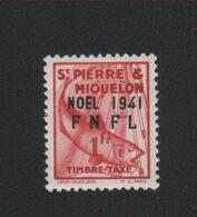 Faux Saint-Pierre Et Miquelon Taxe N° 49 1 F Gomme Charnière - Strafport