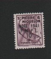 Faux Saint-Pierre Et Miquelon Taxe N° 43 10 C Gomme Charnière - Strafport