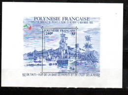 Polynésie Française Bloc 1985 Exposition Philatélique Italia 85 N°MAURY 192A Neuf** - Hojas Y Bloques