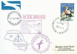 """Lettre """"SA Agulhas"""" Avec Timbre Afrique Du Sud Poste Aérienne N°176 Fou Du Cap - Cachet Du 17/10/2011 - Navi Polari E Rompighiaccio"""